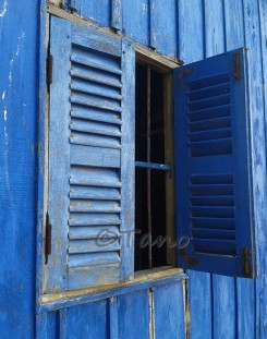 Cambodia, Kep Blue Window