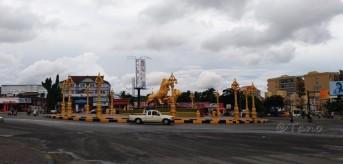 Cambodia, Sihanoukville Golden Lions Roundabout
