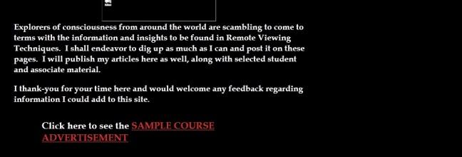 Sample Course Advert