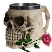 Skull Mug and Rose