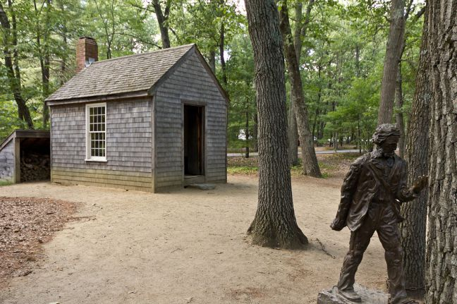 Replica Of Thoreau Cabin