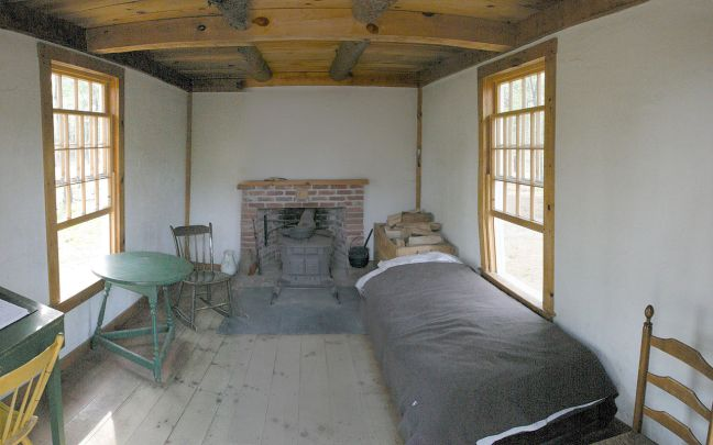 Thoreau Cabin Inside